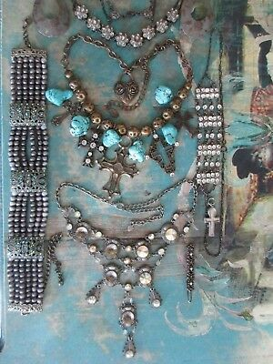 Vintage Lot of Mixed Antique-Victorian-Deco Art Style Jewelry .
