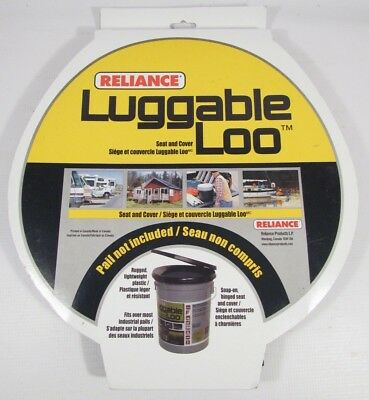 Camping Travel Luggable Loo Snap-on Toilet Seat with Lid for 5-gallon Bucket NEW