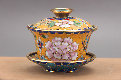 Exquisite Chinese Cloisonne handmade painting tea set at8