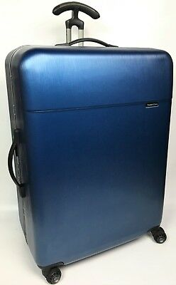 "Traveler's Choice Solon 30"" Navy Blue Hardside Spinner Suitcase - $440"