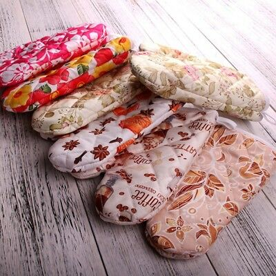 Non-slip Kitchen Microwave Oven Cotton Mitt Insulated Cooking Gloves Baking Tool