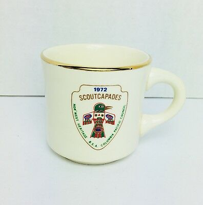 Vintage Boy Scouts BSA Coffee Cup Mug Columbia Pacific Council Portland OR Totem
