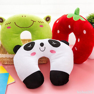 Multi-Color Cartoon U Shaped neck travel pillow automatic Neck Head Rest AU he17