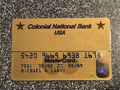 Vintage Charge Cards Colonial Bank