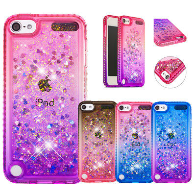 Shockproof Glitter Quicksand Bumper Bling Case Cover for Apple iPod Touch 5 6