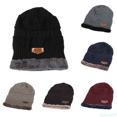 Fashion Men Women Crochet Knit Beanie Wool Hat Winter Super Warm Cap Unisex he17