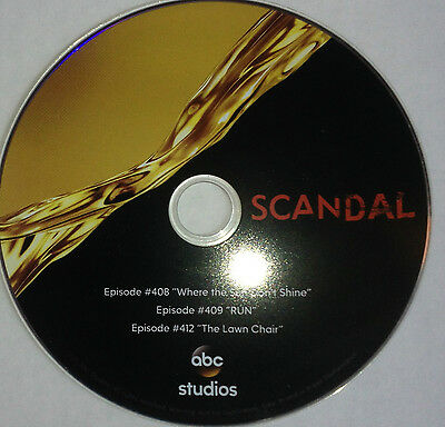 Scandal, 2015 ABC TV 3 Episodes FYC EMMY AWARD VIEWER DVD