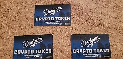 Los Angeles Dodgers crypto token digital bobblehead sga