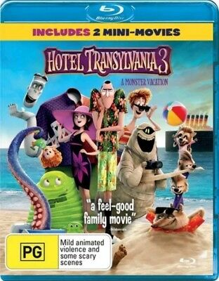 Hotel Transylvania 3 - A Monster Vacation (Blu-Ray, 2018) New & In Stock