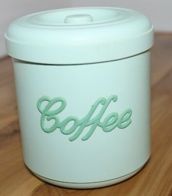 Vintage Retro Nally Ware  Green  Coffeee Canister.