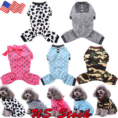 Autumn Winter Dog Accessories Pet Clothes Puppy Clothing Pajamas dog Costume US