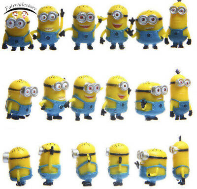 12pcs Cute Despicable Me Minions Movie Character Figures Doll Toy Xmas Gift New