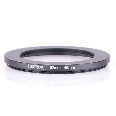 62mm-46mm Step Down Ring 62-46 DSLR Camera / 62mm Lens to 46mm Filter Cap Hood