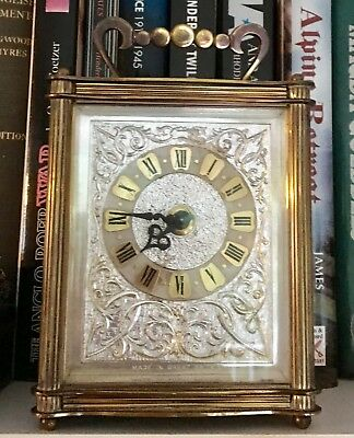 Carriage Clock Made By Smiths With Silvered Front Working