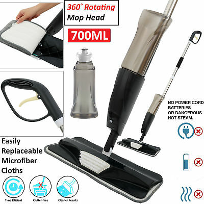 700Ml Spray Mop Water Spraying Floor Cleaner Tiles Microfibre Marble Kitchen Bb