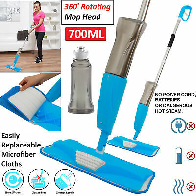 700Ml Spray Mop Water Spraying Floor Cleaner Tiles Microfibre Marble Kitchen Bl