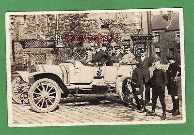 Motor Car Police Military Scout  west of Sheffield ? RP pc unused Ref L971