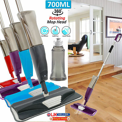 700Ml Spray Mop Water Spraying Floor Cleaner Tiles Microfibre Marble Kitchen Vr