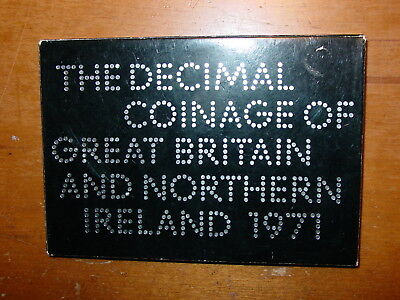 British United Kingdom Proof Set Of First Decimal Coins Minted In 1971