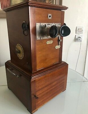 TAXIPHOTE STEREOSCOPE 45x107 PLAQUES VERRE VISIONNEUSE RICHARD STEREOVIEWER