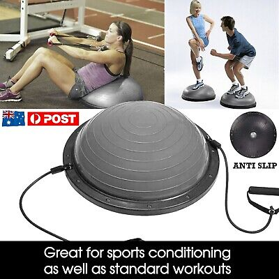 Pilates Balance Yoga Gym Bosu Ball Training Exercise Fitness Ball w/ Pump&Band