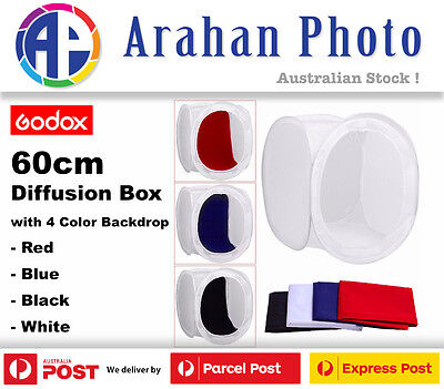 Godox 60cm Photography Photo Studio Soft Box Light Tent with 4 Color Background