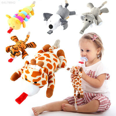 1PC Baby Silicone Pacifier With Animal Plush Toy Safe Fun Funny Stuffed Dummies