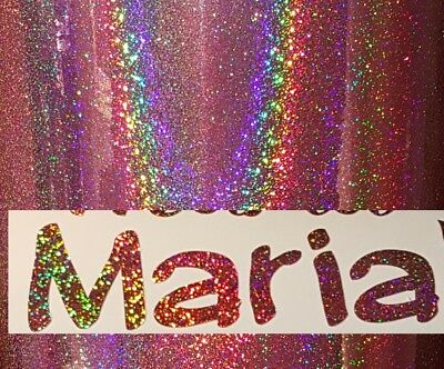 1x Rose Gold Sparkle Name/Word Vinyl Decal Sticker