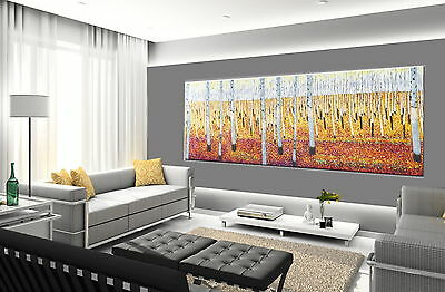 140cm x 50cm  ART PAINTING OUTBACK LANDSCAPE  print Aboriginal canvas not framed