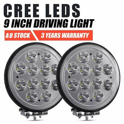 Pair 9 inch CREE LED Work Light SPOT Driving Lamp Spotlights Offroad Truck SUV