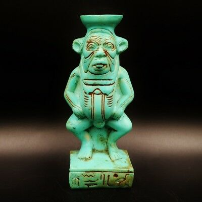 Rare Antique Egyptian Faience God Bes Amulet Figurine...ONE OF A KIND