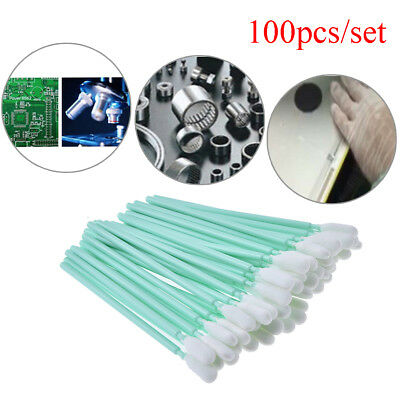 100Xprinter cleaning swabs solvent sponge printhead cleaning swaps buds foam SS