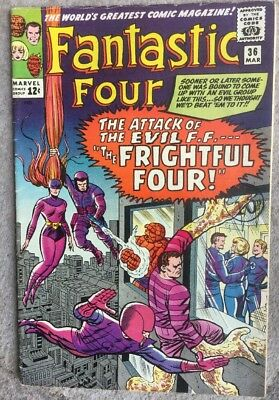 FANTASTIC FOUR # 36 (1st. MEDUSA, FRIGHTFUL FOUR, MAR 1965), CBCS 7.0