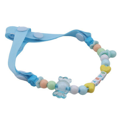 Boy Infant Baby Girl Beads Teether Pacifier Chain Clip Soother Holder Toy BS