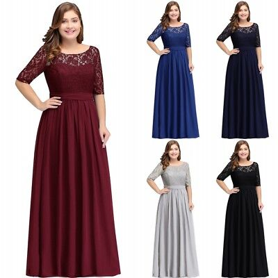 Long Evening Formal Party Dress Prom Ball Gown Bridesmaid Chiffon Plus Size