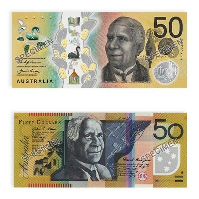 In Stock -2018 RBA Two Generations of $50 Uncirculated Banknote Pair Folder