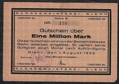 Glehn, Bürgermeister, 6: 1.000.000 (1 Million) Mark 1923