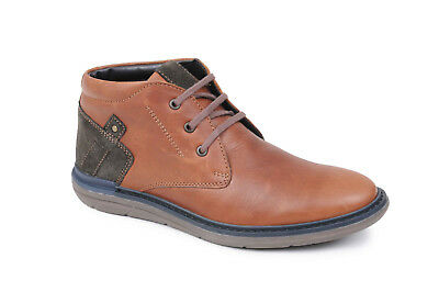5984dfecbfd CATESBY MENS SMART Brown Leather Dealer Chelsea Pull On Boots ...