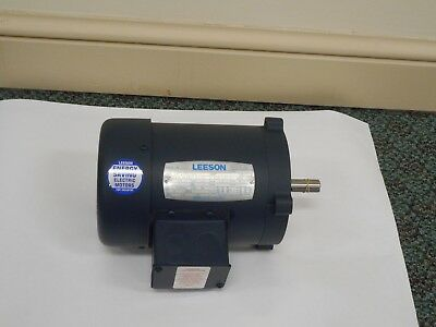 Leeson 1/3 HP Electric Motor 208-230/460VAC 3 Phase 60/50 HZ