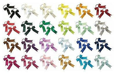 Grosgrain ribbon hair bows, Toddler hair accessory bows on thin bobbles or clips