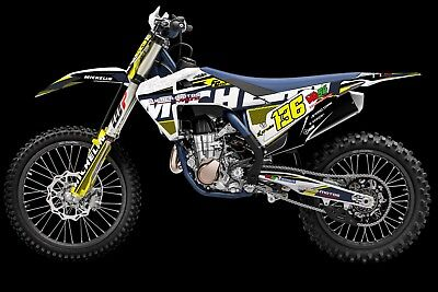 HUSQVARNA TC FC FE FS 125 250 350 450 MX factory decals dekor grafiche graphique