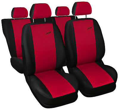 CAR SEAT COVERS fit Renault Modus - XR black/red sport style full set