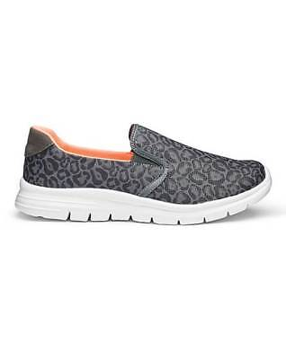 Be Active Slip On Memory Foam Trainers E Fit Grey UK 8 EU 42 NH180 AD 06