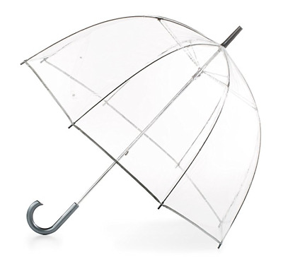 Totes Clear Bubble Dome Umbrella Transparent Fashion Large Windproof Rain Auto