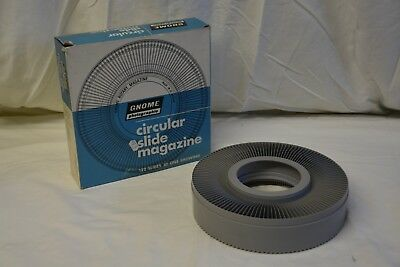 Gnome Photographic Circular Slide Magazine Holds 120 Slides in Box