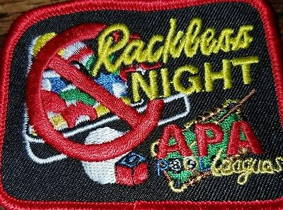 Apa Rackless Patch Patches American Poolplayers 8Ball