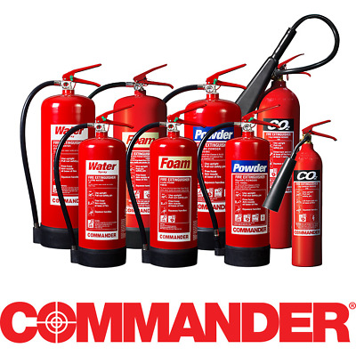Commander 6 Litre Water Fire Extinguisher -Home Office Industrial Use Best Price