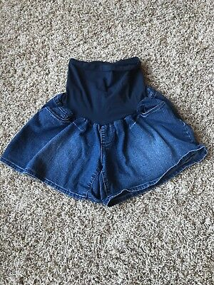 Oh Baby Motherhood Women's Maternity Size Xl Extra Large Shorts Jeans Full Panel