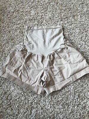 Oh Baby Motherhood Women's Maternity Size L Large Shorts Khaki Full Panel