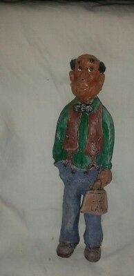 """Vintage PolyResin Figurine Lawyer """"LA LAW""""  5 1/2"""" in Height"""